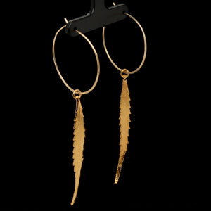 Cannabis Leaf Hoop Earrings