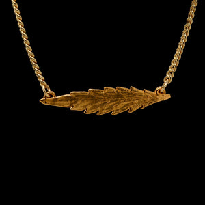 24k Cannabis Leaf Necklace