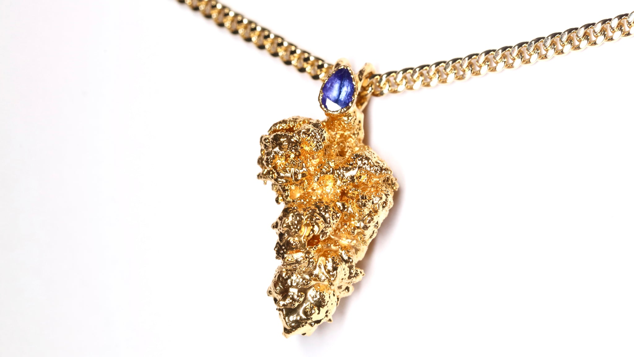 24k Gold Cannabis Nug with Tanzanite