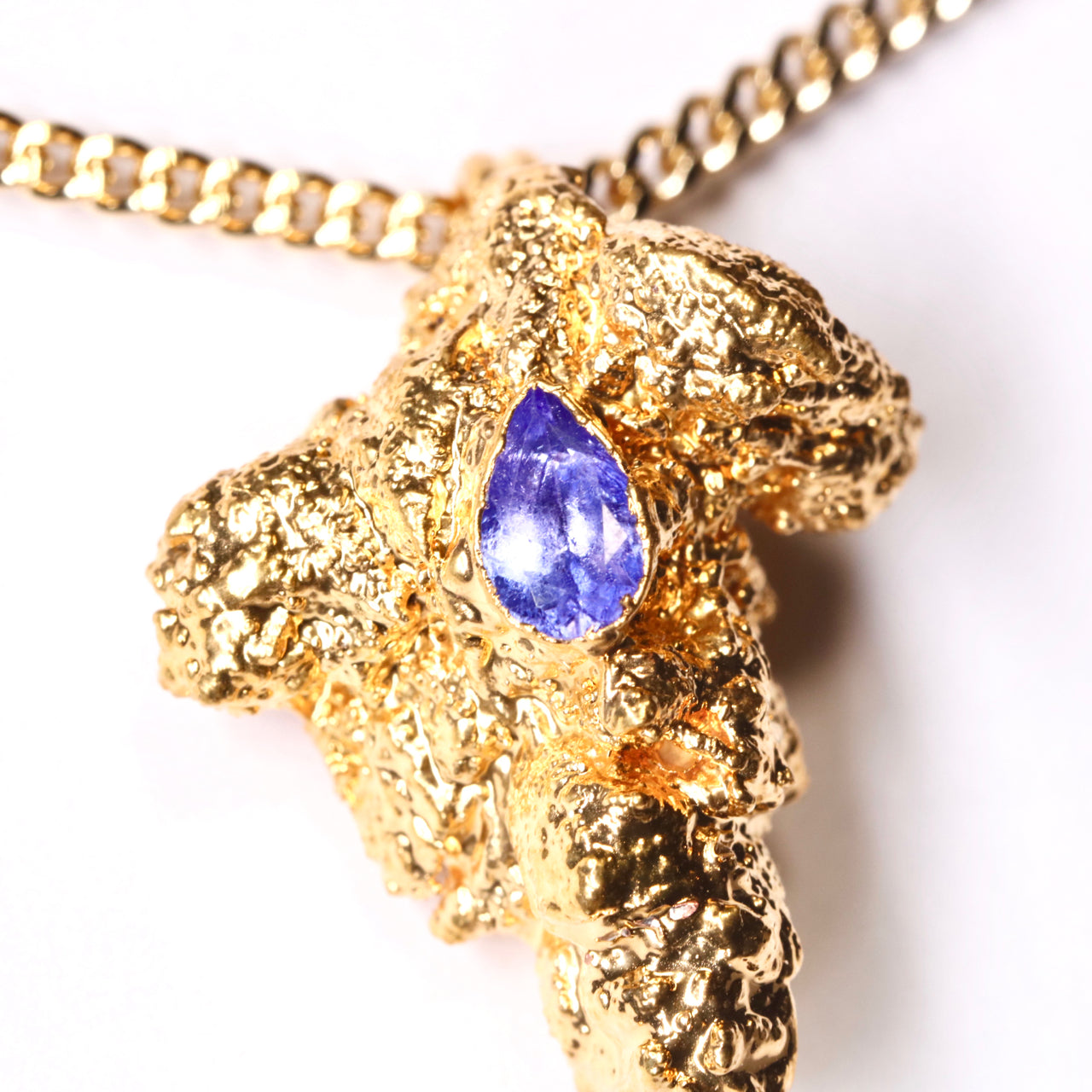 Gold Cannabis Nug with Tanzanite