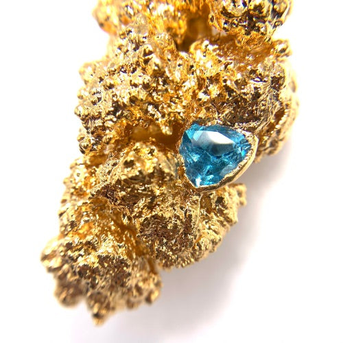 24k Sunset Sherbert Nug with White Sapphire and Topaz