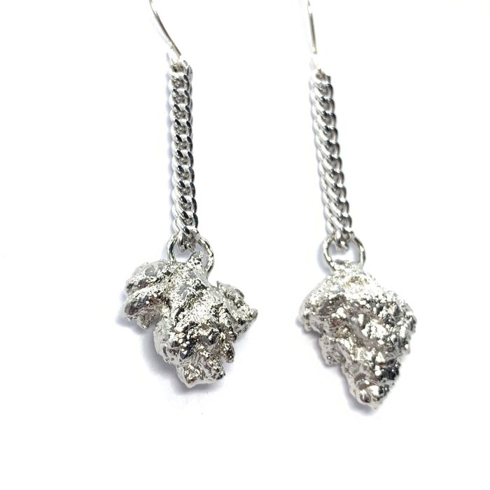 Platinum Cannabis Nug Earrings