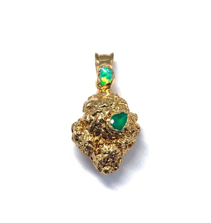 24k Cookies Nug with Emerald and Opal