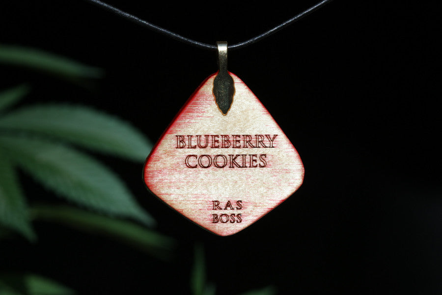 Blueberry Cookies Cannabis Leaf Pendant