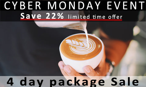 Coffee Business and Barista Training Cyber Monday Special
