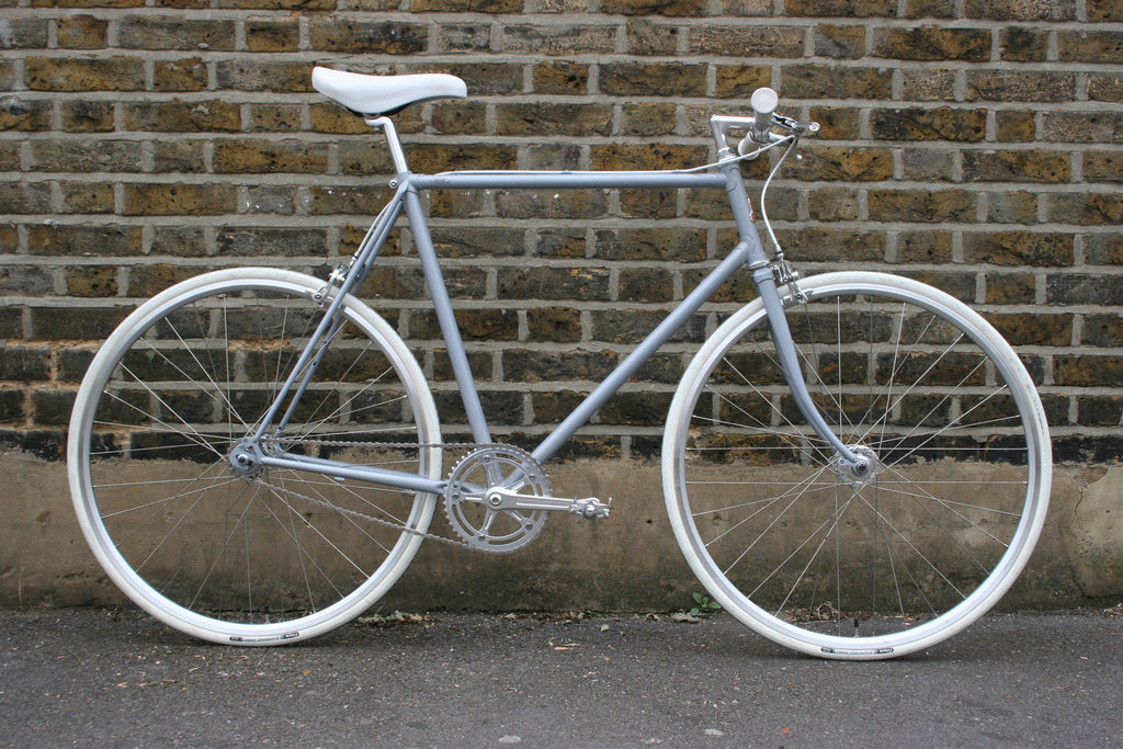S S C Model 1 Single Speed Bike | Grey 'n' White | 58cm