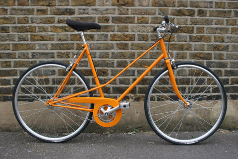 S S C Model 2 Single Speed Bike | Yellow-Orange 'n' Black | 50cm