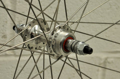 Small Flange Premium Silver 700c Single Speed Kit