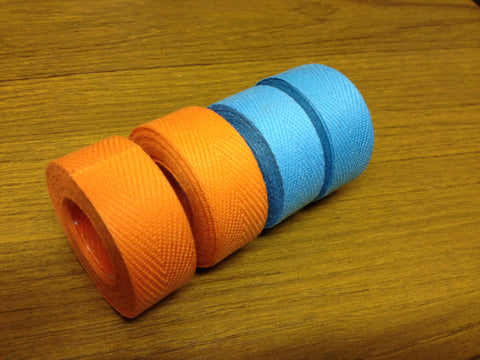 Velox Tressorex Cloth Handlebar Tape - Pale Blue and Orange Variants