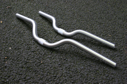 Riser Bicycle Handlebar | Silver Alloy | 40mm or 60mm Rise