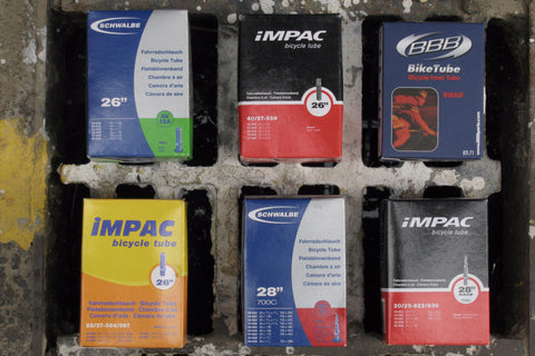 Bicycle Inner Tubes, Various Sizes, Sold in Fours