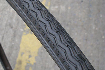 "Pair of All Black Tyres - 27"" x 1 1/4"""