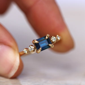 Blue Sapphire Ring - 1.1ct - JUX Jewellery
