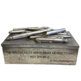 Ernest Hemingway Quote Pencil Box SOLD