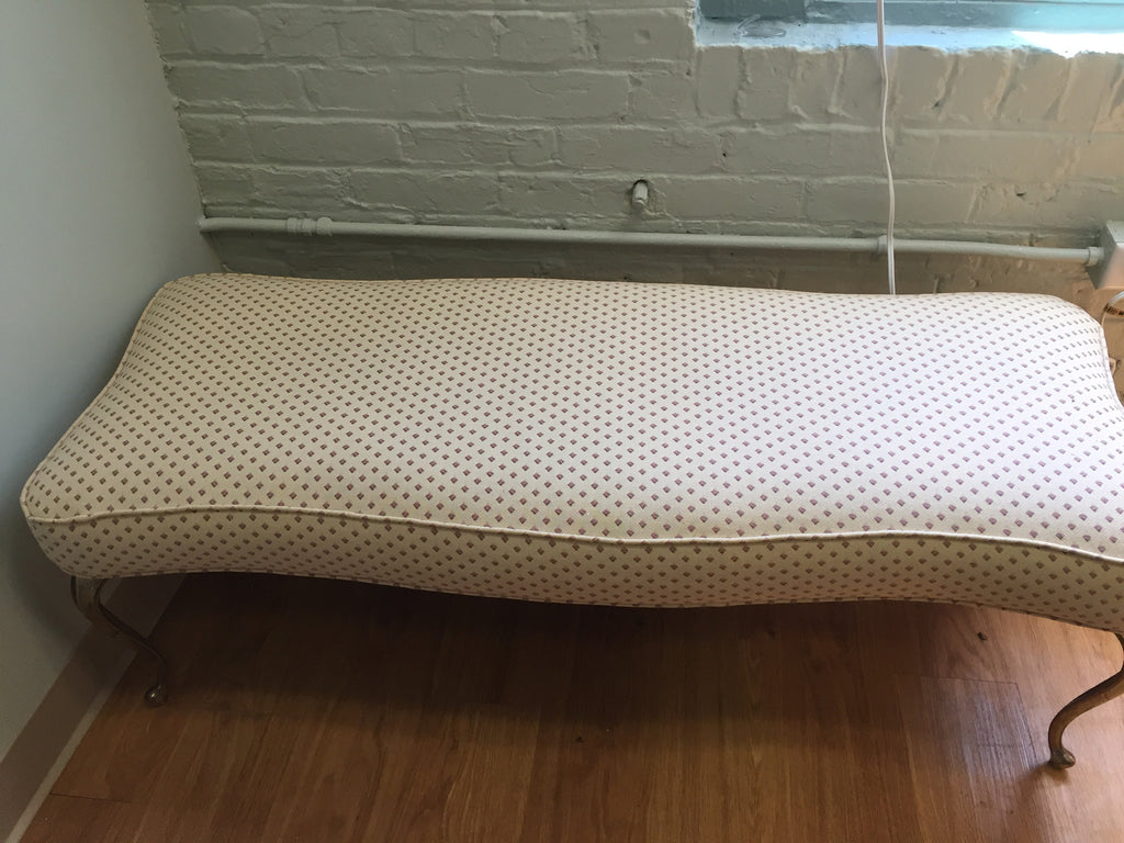 Vintage Bench with Curved Brass Legs