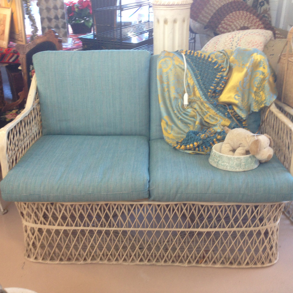 Russell Woodard Spun Fiberglass Chair, Loveseat and Side Table-SOLD