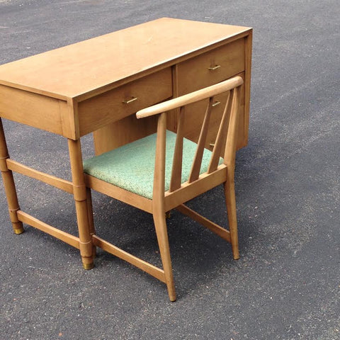 Kent Coffey Mid Century Modern MCM desk and chair (sold together)