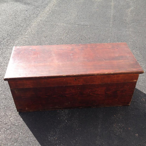 Antique Hinged Top Seaman's Chest