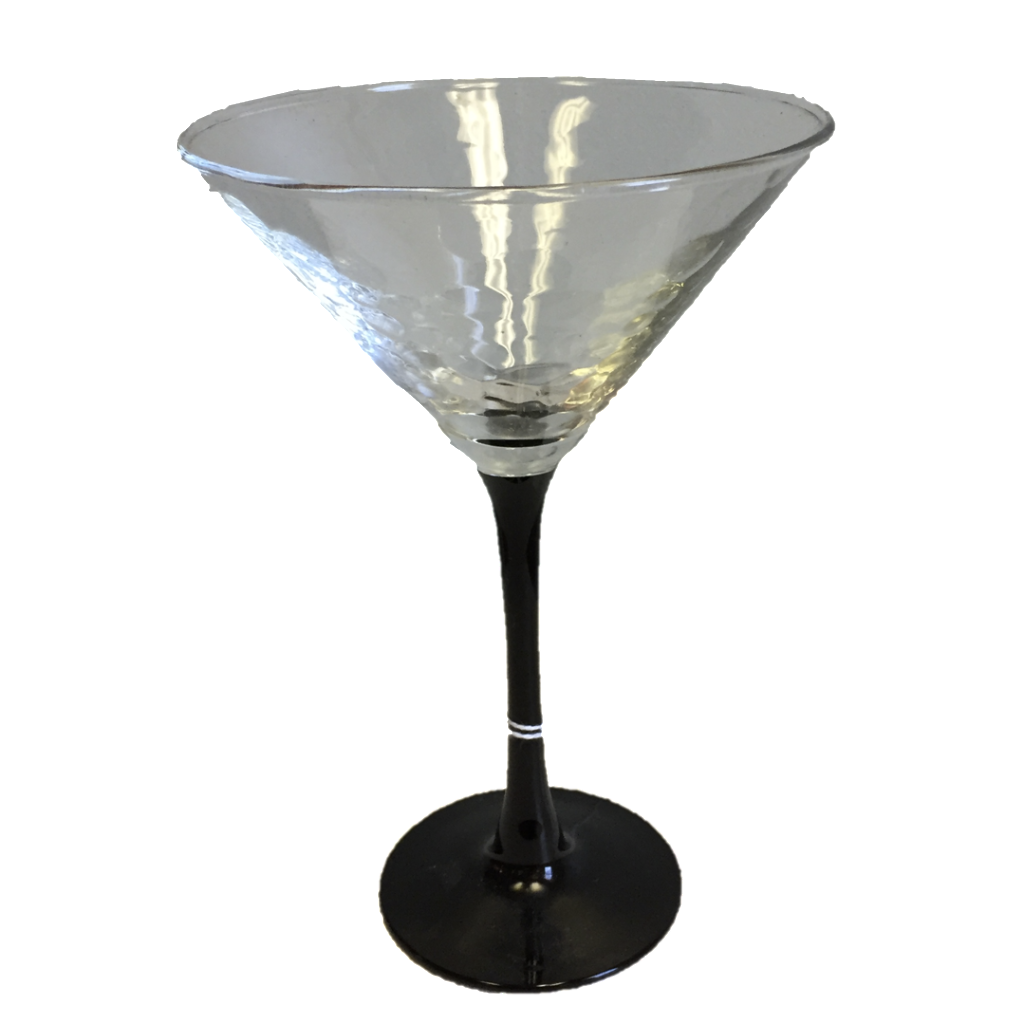 Black Stemmed Martini Glasses (Set of 4)  SOLD