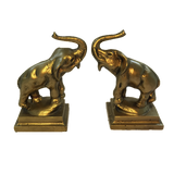 Antique Pair of Golden Elephant Bookends
