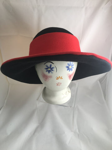 Hat Henri Bendel Red Brimmed SOLD