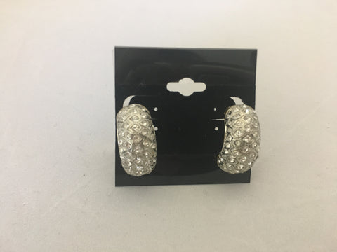 Vintage Crystal Clip Earrings