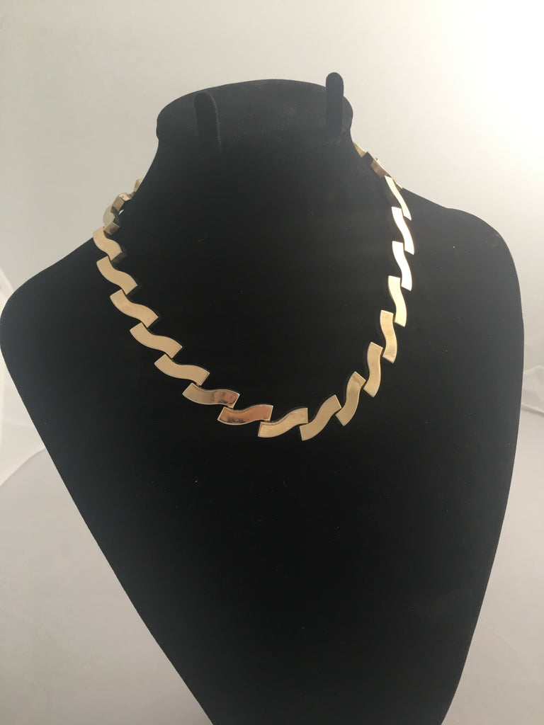 Rare Monet Gold Necklace