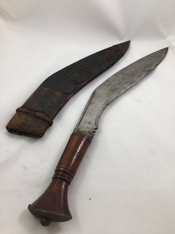 WWII Gurkha Long Leaf Kukri with Sheath