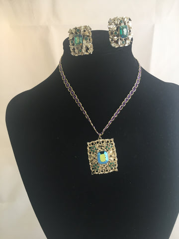 Coro Vintage Earrings and Pendant