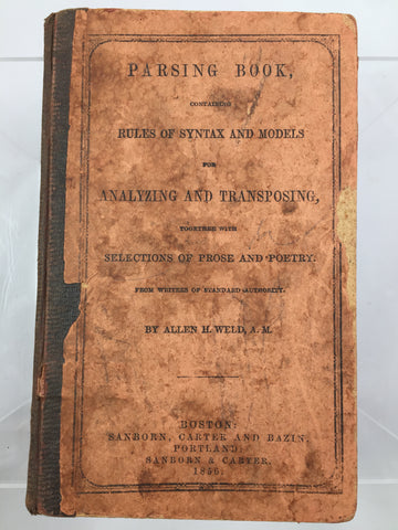 Parsing Book 1856 SOLD