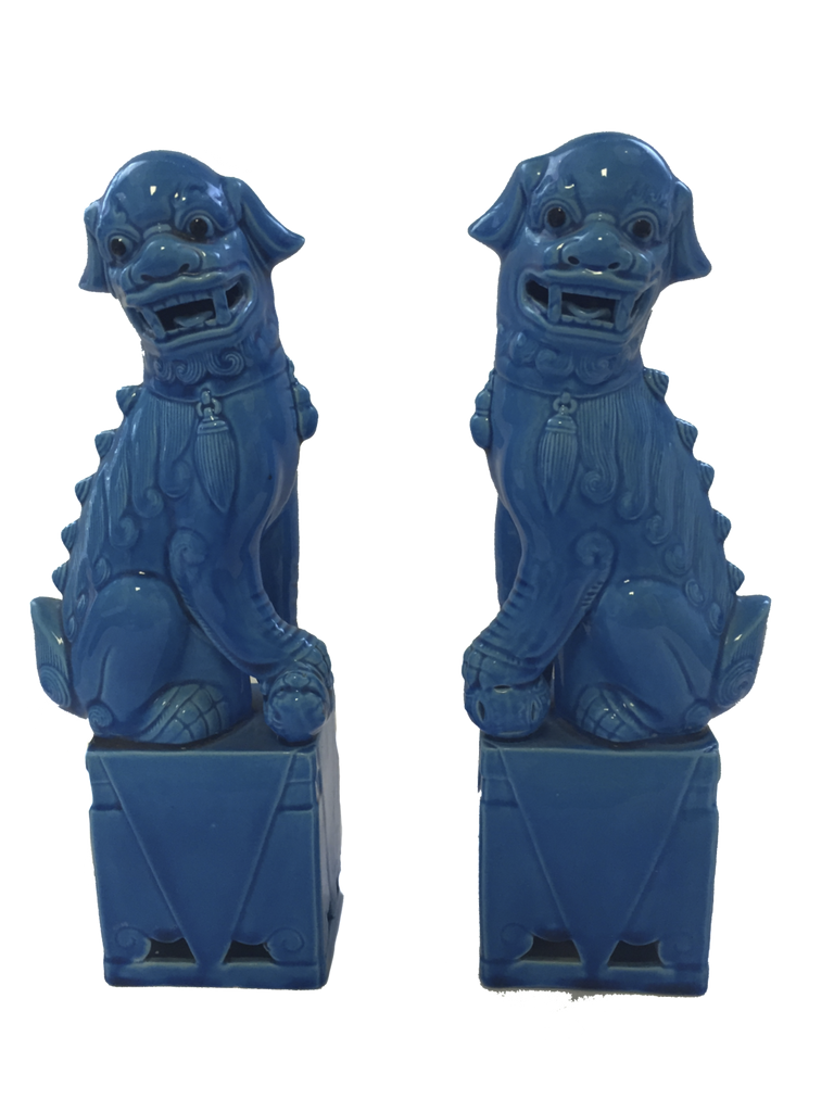 Vintage Blue Foo Dogs SOLD