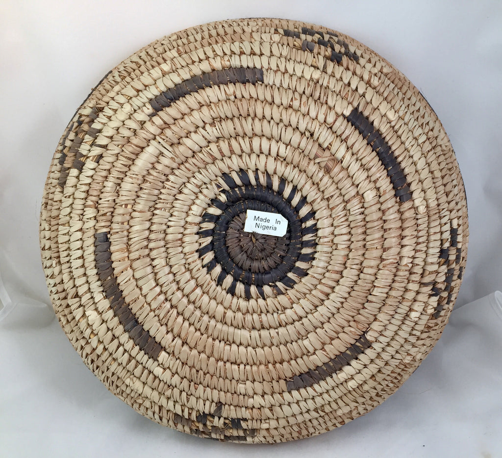 Uganda Vintage Basket Bukedo and Raffia Soft Earth Tones