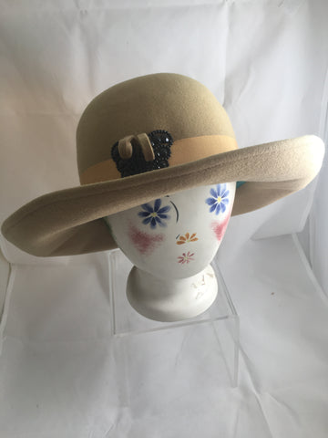 100% Wool Felt Butterfly Hat