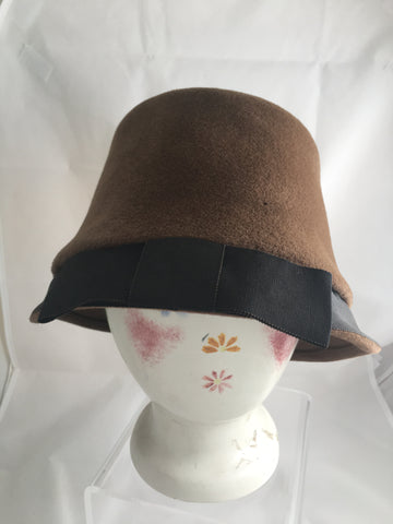 Vintage Italian Made Wool Cloche