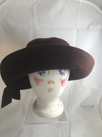 Hat Brown Wool Felt