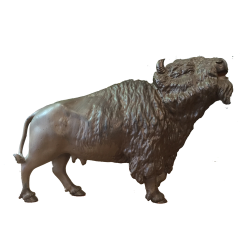 Bronze Female Buffalo Figure