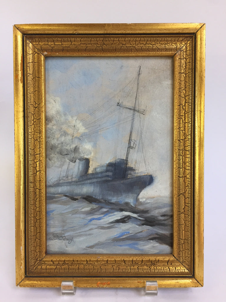 Antique oil painting by Listed artist Waugh.