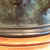 """They're Off"" Bronze Lamp by Jonathan Mueller RARE"