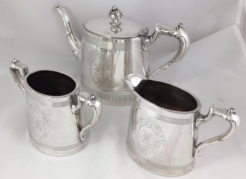 Antique Silverplate Tea Set