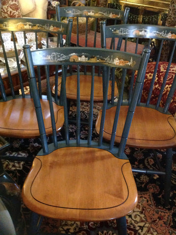 Hitchcock Seaport Vintage Chairs (Set of 4)-SOLD