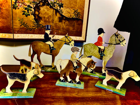 Equestrian Hunting Figures set  SOLD