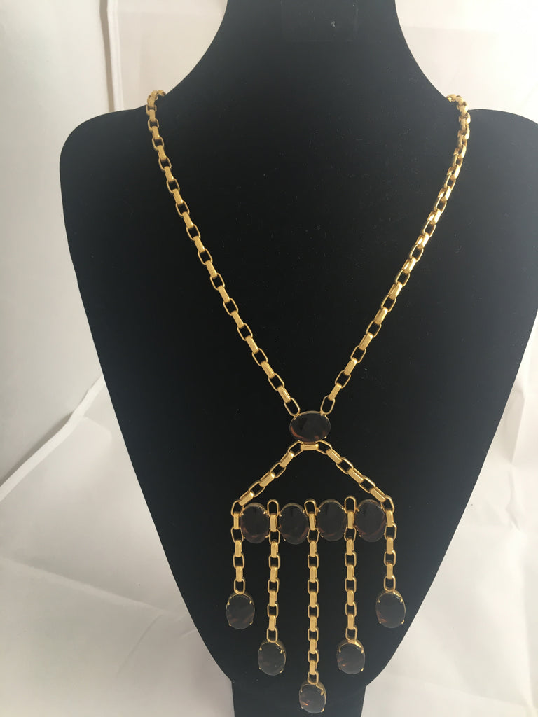 Necklace Vintage Golden Link Tassel Necklace