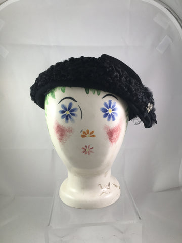 Hat Bessie Levitt Persian Lamb Headpiece