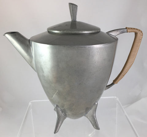 Mid Century Modern Danish Pewter 3-piece Tea Set