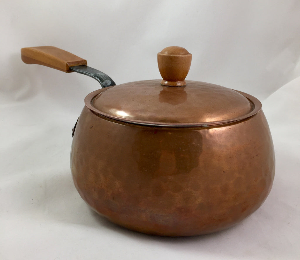Vintage Swiss Fondue Pot Hand Hammered