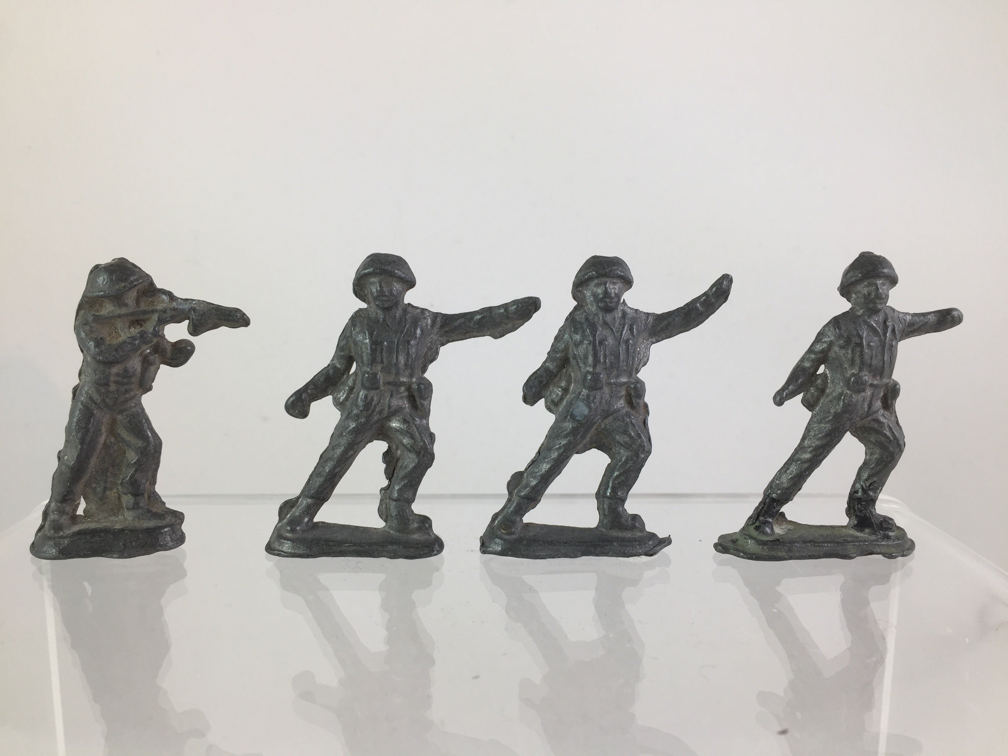 Pewter Toy Soldiers, Set of 4