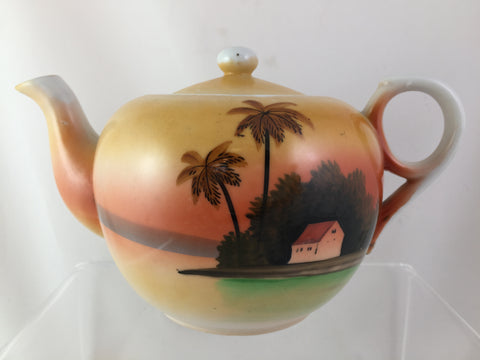 #28 Takito Japanese Hand Painted Tea Pot c. 1920  SOLD