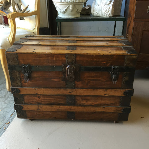 Antique Trunk on Casters-SOLD