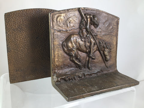 Bronze End of the Trail Bookends set of 2