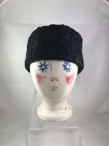 Hat Black Persian Lamb